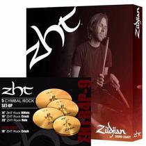 Zildjian Zhtr4p-9 Kit De Pratos Zht Rock 14hh+16+18+20