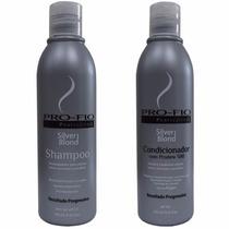 Kit Shampoo Condicionador Silver Blond Pro Fio Matizante