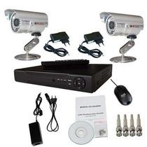Kit Cftv Dvr 4ch 2 Cameras 1000l 1/3 Ccd Sony Infra Hd 500gb