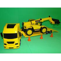 Caminhão Carreta Prancha E Trator Articulado Comp 67 Cm