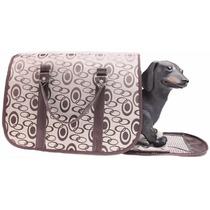 Bolsa Transporte Caminha Pet Cães Gato Cachorro Viagem Luxo