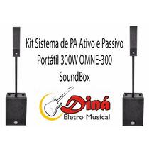 Omne600 - Kit Sound Box Omne 600 Sub At/pas/cx Acustica - Nf