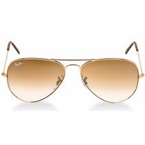 Óculos De Sol Aviador Espelhado Marrom Masculino E Feminino