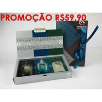 Kit Kaiak Natura 3 Kaiak 25 Ml Cada Promoção 59,90