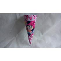 20 Cones Guloseimas Minnie Rosa Fazemos Vários Temas