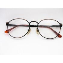Armação De Óculos Cor Cobre Vintage - Retrô Redonda 50