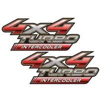 Par Adesivo Toyota Hilux 4x4 Turbo Intercooler - 2 Adesivos