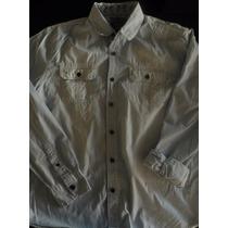 301 - Camisa Jeans Blue Steel - Tam. G - Manga Longa
