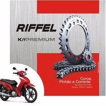 Kit Relação Transmissão Para Moto Yamaha Xtz 125 - Riffel