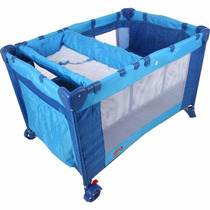 Berço Cercado Alegria Desmontável C/ Trocador Azul - Dardara
