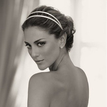 Faixa /arranjo/ Tiara Acetinada Branca / Headband Para Noiva