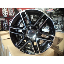 04 Rodas Gol Rally 2014 Aro 15 4x100 Black Diamantadas Novas