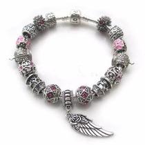Pulseira Pandora Vivara Banhada Prata 925 Completa Com Beads