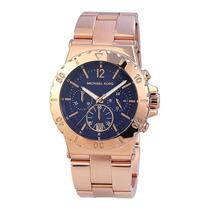 Relógio Michael Kors Mk5410 Rosé E Azul Original