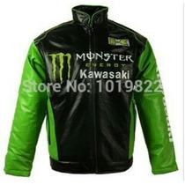 Jaqueta Kawasaki Monster Corduro Couro Pu Para Motociclista