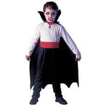 Fantasia Infantil Vampiro Com Capa E Dentadura P Halloween
