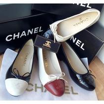 Sapatilha Chanel Couro/verniz (super Queima)