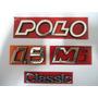 Emblema Nome Polo Classic 1.8 Mi Kit Com As 4 Peças - Nbz