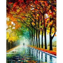 Cartaz Foto Leonid Afremov 50cmx63cm Obra Reflexões Da Manhã