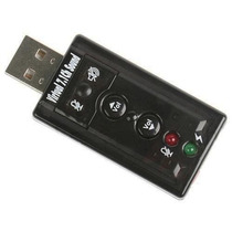 Placa De Som Usb 7.1 Para Notebook Netbook Pc Dj Som Virtual