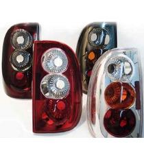 Lanterna Saveiro G2 G3 Esportiva Rubi Fume Cristal Vermelha