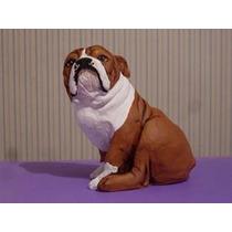 Escultura De Bulldog Ingles