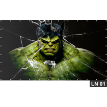 Hulk Vingadores Painel 3,00x1,70m Lona Festa Aniversários