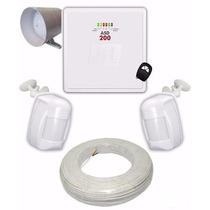 Kit Alarme Residencial Jfl Central Asd 200 Completo Com Fio