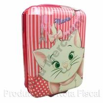 Mala De Viagem Rígida Infantil Menina - Marie Gata Cat Rosa