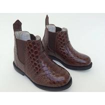 Bota Coturno Botina Sapato Infantil Masculino Country