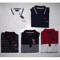 3 Camisas Polo Pierre Cardin Plus Size Luxo Produto Original
