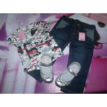 Conjunto Lilica Ripilica Baby 3p - Blusa+calça+sapato 24