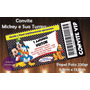 Convite Infantil Mickey- Ingresso Vip - 50 Unid