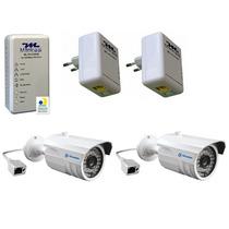 Kit 2 Plc500 +1 Plc500w Internet Rede +2 Câmeras Ip +brinde