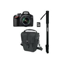 Câmera De 24.2 Mp Nikon D3200 C/ Lente, Estojo, Monopé E Sd