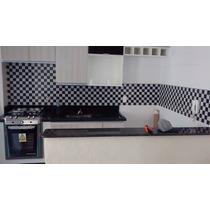Papel De Parede Pastilha Lavável 3d Para Cozinha E Banheiro