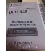 Manual De Instruções Toca Cd Pionner Modelo Deh-546