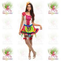 Vestido Junino Adulto Caipira ° Festa Junina ° Flor Verm-c