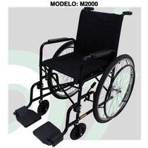 Cadeira De Rodas M2000 Pneus Maciços Assento Encosto Almofad