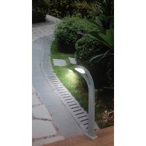 Balizador Poste Led Jardim Piso Solo Alumínio Área Externa