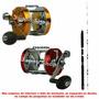 Kit 01carretilha Sumax Ocean +vara Century Kit Para 70 Kilos