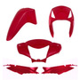 Kit Plástico Carenagem P/ Biz 125 Es Ks Ano 2010 - Vermelho