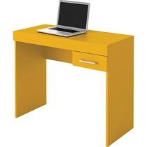 Mesa Notebook Computador Amarela Escrivaninha Estudos Pc