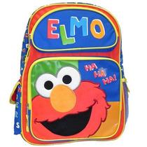 Mochila Escolar Gde Vila Sésamo - Elmo Ha Ha Ha - 054568