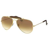 Óculos De Sol Ray Ban Outdoorsman Rb3422q 001/51 - 58mm