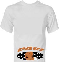 Camisetas Personalizadas Gestantes Grávidas Baby Seunome Plt