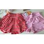 Kit 2 Shorts Malha Infantil Feminino