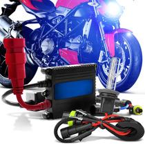 Kit Bi-xenon P/ Moto H4/3 12.000k Azul/violeta - Exclusivo!
