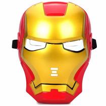 Mascara Homem De Ferro Iron Man Avengers Ilumidada Com Leds
