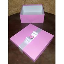 Caixa Para Presente Corujinha Rosa E Lilás